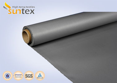 17 OZ Fireproof Silicone Coated Fiberglass Fabric For Fire Curtains And Welding Curtains