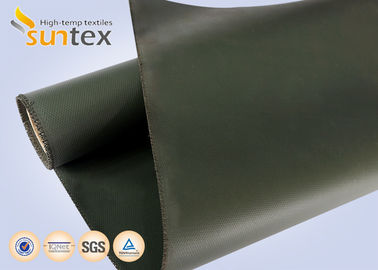 Anti-environment And Flame Resistant Silicone Coated Fiberglass Cloth For Fire Curtains And Welding Blankets