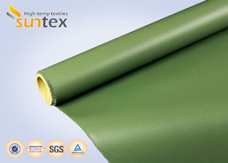 Weather Resistant Thermal Pipe Insulation Jacket Fibreglass Cloth Roll Silicone On Two Side Glass Fabric Textiles