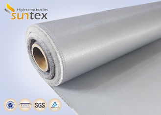 17 OZ Grey Welding Fabric Silicone Coated Fiberglass Cloth For Welding Curtains & Blankets